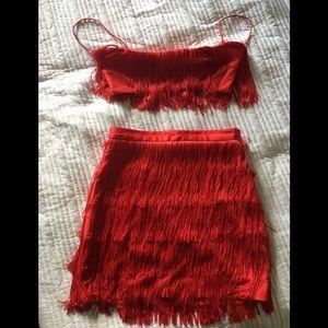 ❤️ 2 piece mini skirt & crop ❤️